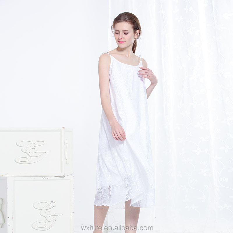 100 Cotton Nightgowns Lace Nightgown Long Lace Cotton Long Nightgown