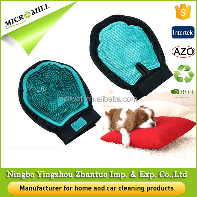 Durable pet washing gloves for pet grooming mitt, new design pet grooming glove