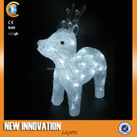 new 3D led outdoor lighted deer christmas decoration