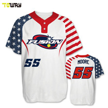 american flag sublimated youth baseball jersey design