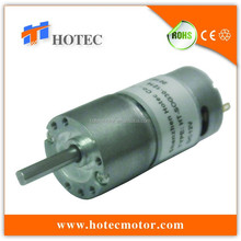 Small 30mm diameter gearbox metal gears 5mm shaft reversible 12v dc motor with gear reduction