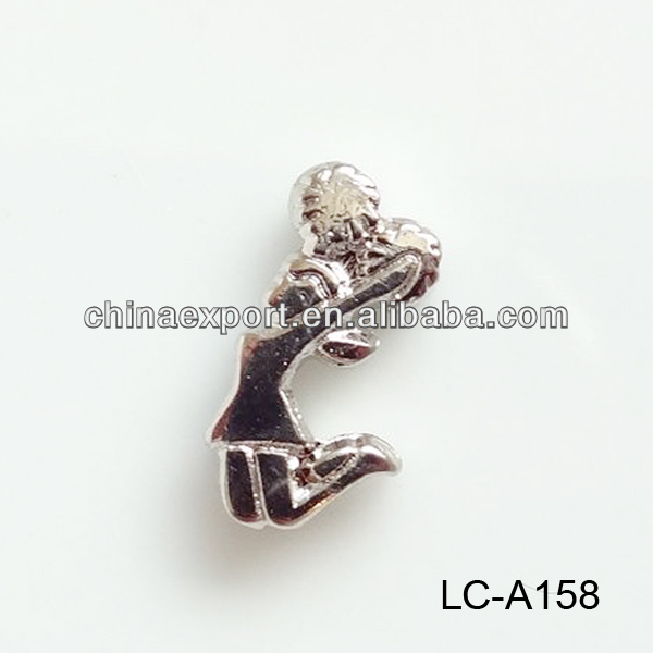 Cheerleader floating charms