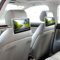 Car digital touch botton dvd player 10 inch rear seat headrest monitor for special car