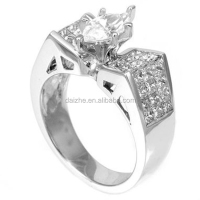 New arrived Marquise paved wide band women ring mirco paved band ring with rhodium plated cz ring