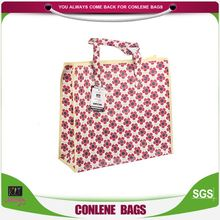 Best prices excellent quality waterproof foldable beautiful flowers grocery packaging bag