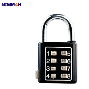 NEWMAN CP8030 Security Luggage Suitcase 4 Digit Button Combination Lock, Travel Combination Padlock