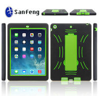 Durable 3 in 1 Hybird kickstand book case for ipad air cheap cover case free sample paypal acceptable