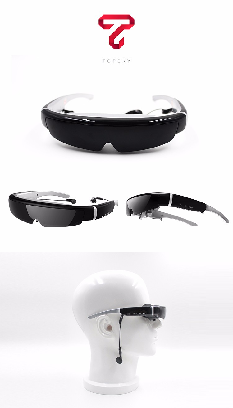 AR glasses 98inch 1080p 3D HD augmented reality video glasses IVS-2,AV in