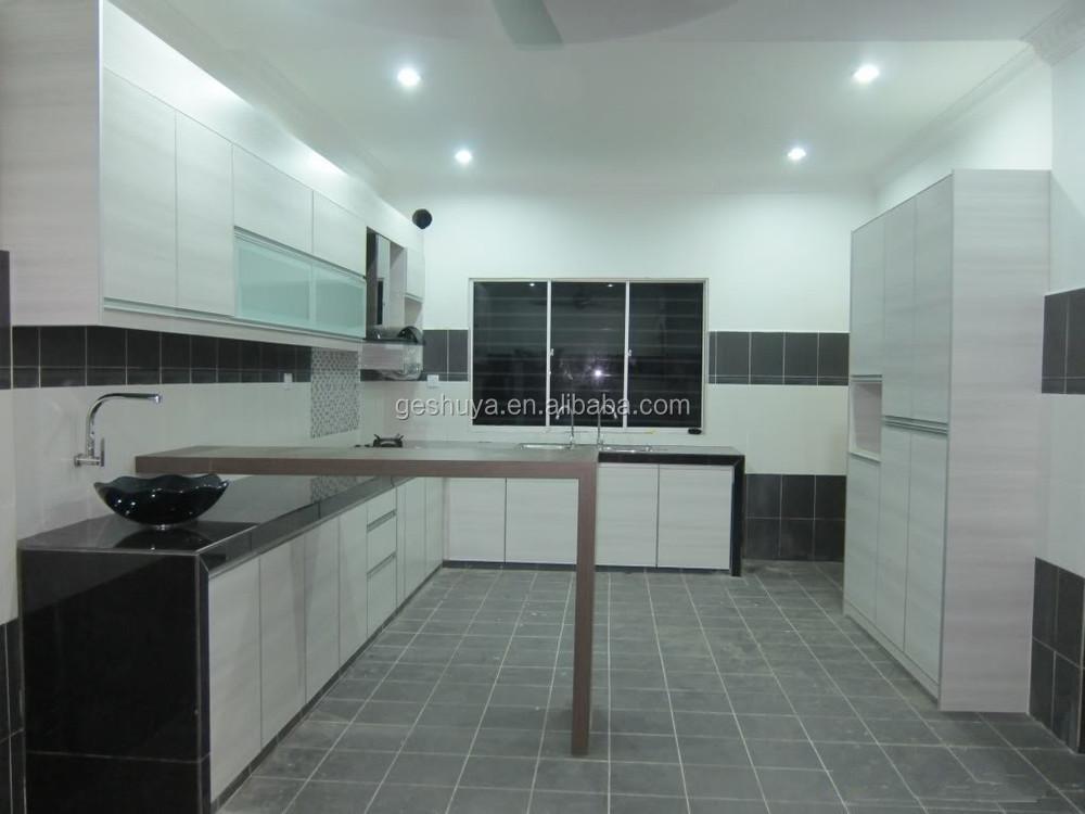 Lb-dd1002 stile moderno mobili da cucina in pvc bianco per la cucina ...
