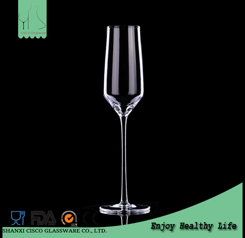 Cisco 2017 New Design Custom Personalized Crystal Champagne Flute Glass