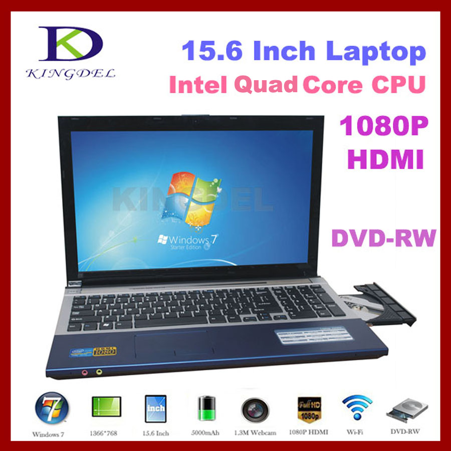 Best price 15.6'' <strong>laptop</strong> computer Intel Celeron J1900 Quad Core 1.8Ghz, 8GB RAM +1T HDD, DVD-RW, Webcam, WIFI, Bluetooth