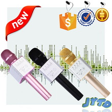 Portable handheld speaker Q9 karaoKe bluetooth wireless microphone for mobile phone