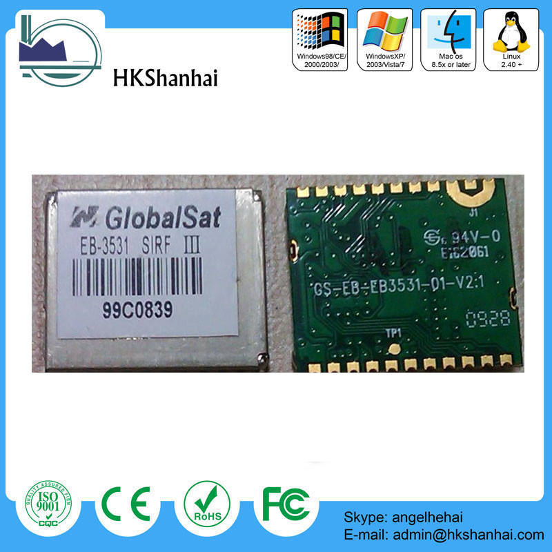 Hot globalsat module EB-3531/ET314 smallest sirf star iii gps chipset