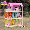 wholesale pink pretend play toy wooden american girl doll house W06A170