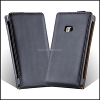 High Quality Magnetic Genuine Real Flip Leather Case Wallet Cover for Nokia Limia 900
