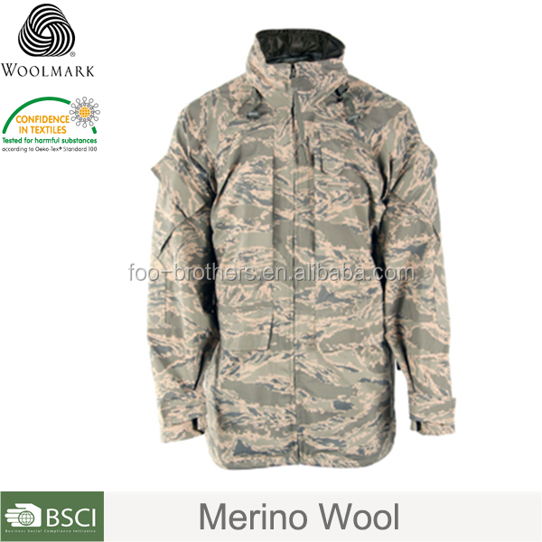 Merino wool camouflage jackets forest camouflage jacket army woodland camouflage jacket