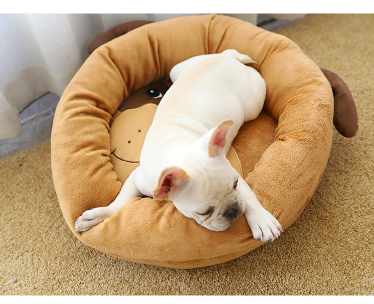 Manufacturer Wholesale Pet Supplies Dog Bed Luxury Non-slip Round Animal Shape