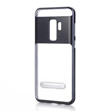 For Samsung s9 s9 Plus Transparent Plastic Material Rugged Cell Phone Case Cover With Holder Function