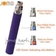 China bulk purchasing e-cigarette website wholesale high quality ego led color change battery with cheap low price