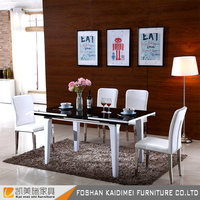 Fashionable Stainless Steel Restaurant Dining Table