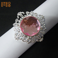 Top selling clear acrylic rhinestone napkin ring for table decoration