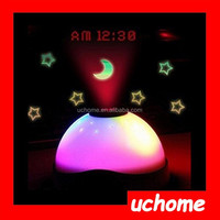 UCHOME LED Light Star Projection Alarm Clock