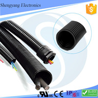 China SY Different Types Of Flexible Electrical Conduit Corrugated Plastic Tubes