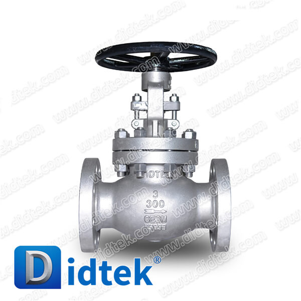 Didtek Reliable Supplier iAPI 600 Oil and Gas Class300 CF3M Stainless Steel Flanged Connection Globe Valve