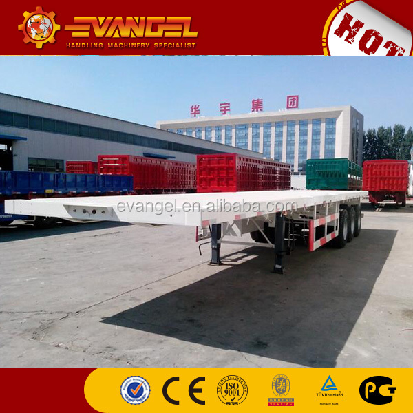 3 Axle 40FT truck trailer parts low Flatbed semi Trailer For Sale