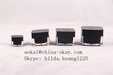 50g Black Square Jar Face Mask Use Cosmetic Packaging Alibaba Supplier