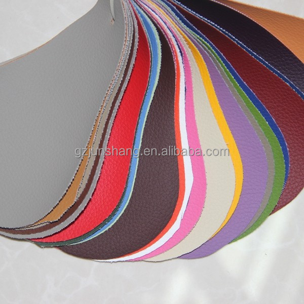 Embossed PVC artificial leather use for car seat leather, bus seat fabric usage