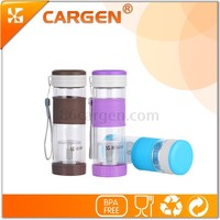 Dongguan manufacturer best selling glass water bottle of double wall