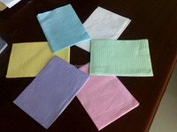 Factory direct sale hospital clothing protectors surgical towel and dental patient napkin