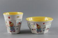2015 New Design Colorful Tableware,Melamine Dinner Bowls And Cups For Babies
