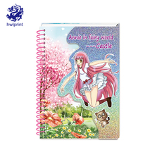 Eco-friendly wholesale with color pages reusable paper spiral notebook