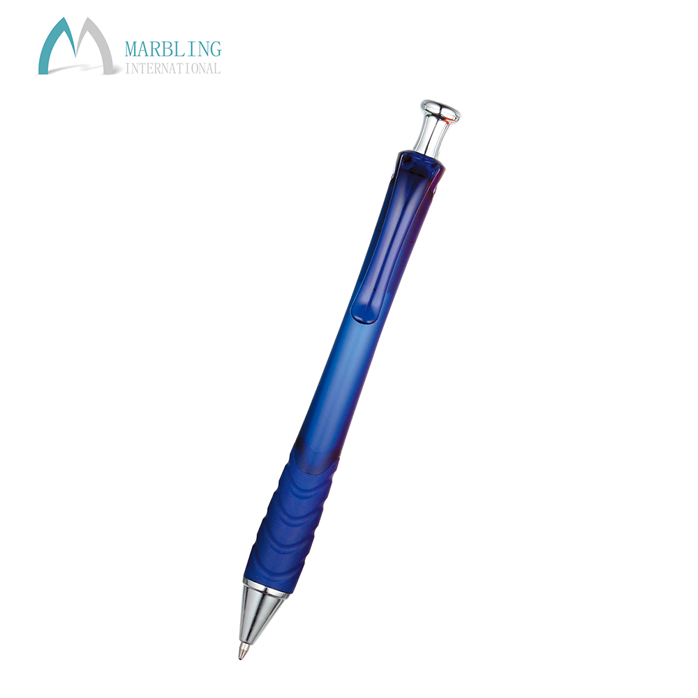 Marbling Promotional Feature Picture Cute Blue Plastic Pen MPL437F