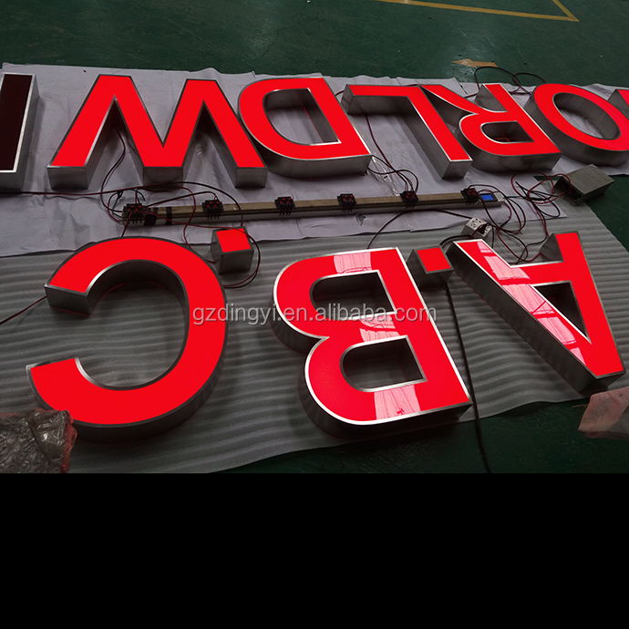 custom made front lit channel signs outdoor advertising led illuminated color metal numbers and letters