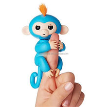 2018 new arrival children toy 6 Colors Electronic Finger Pet Baby Toy Interactive Fingerling Monkey Toys bella - pink
