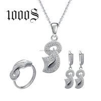 China Wholesale 925 Silver Jewelry Set Micro-Pave Cubic Zirconia Bridal Jewellery