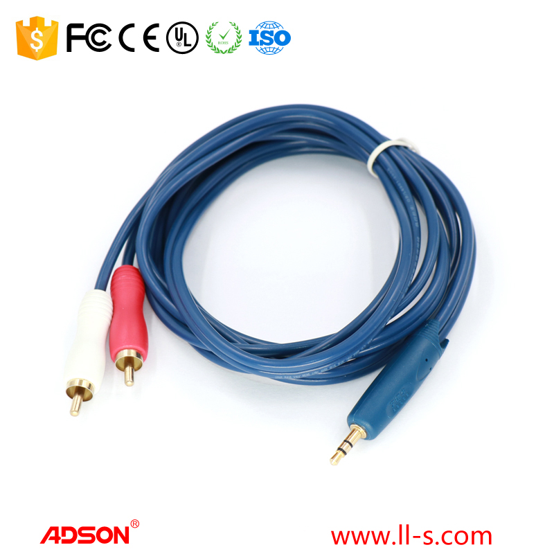 3.5mm a 2 rca cable macho a macho cable av aux cable