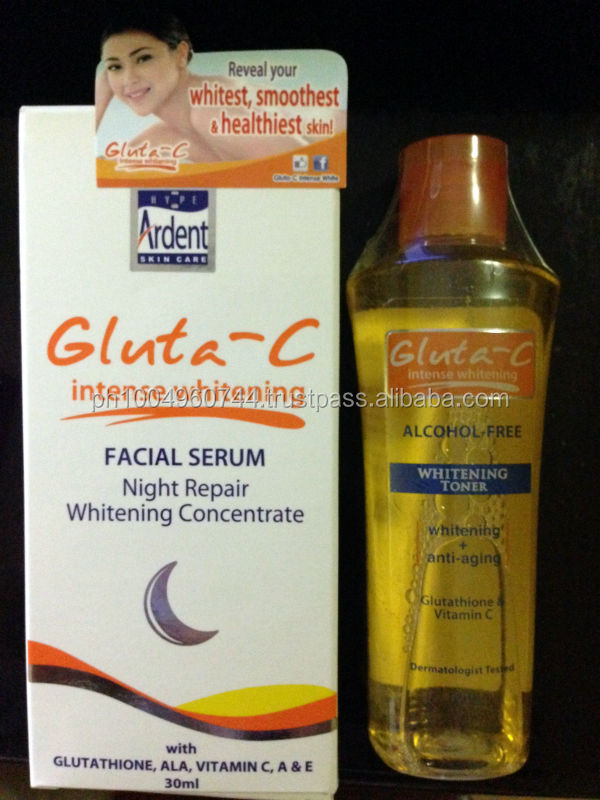 Gluta C Intense Whitening Toner and Gluta C Facial Serum Night Repair