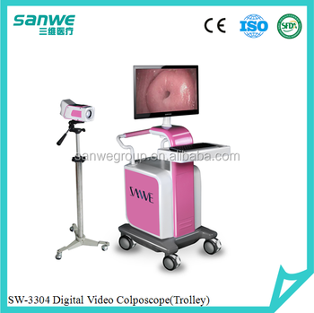 SW-3304 Digital Video Colposcope with Software and Camera, Colposcope, Gynecology with Two Monitors