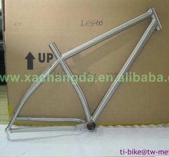 XACD made titanium fat bicycle frame with inner line routing, 29er bike frame with breeze dropouts, mtb frame made in china
