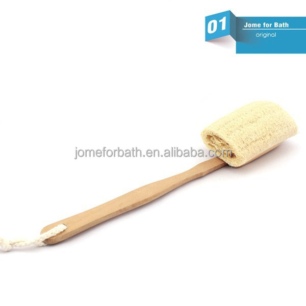 New Long Handle Shower Bath Loofah Sponge Body Brush Dull Wipe Luffa Wash Skin Care