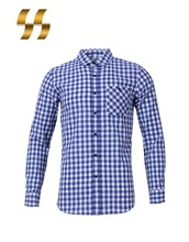 oem long sleeve polyester / cotton with multiple colors comfort fit yarn dyed men formal shirts