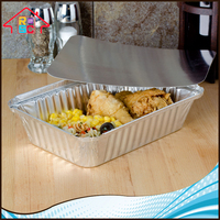 NBRSC Cheapest Aluminum Foil Food Storage Container with Paper Lid