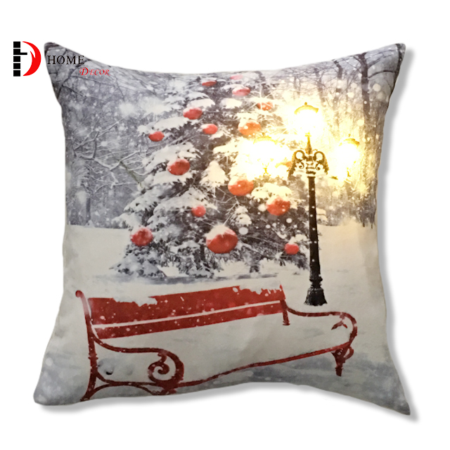 lighted christmas decorating pillow cover and led cushion covers decorative buy cushion covers decorativeled cushionlight up cushion cover product on