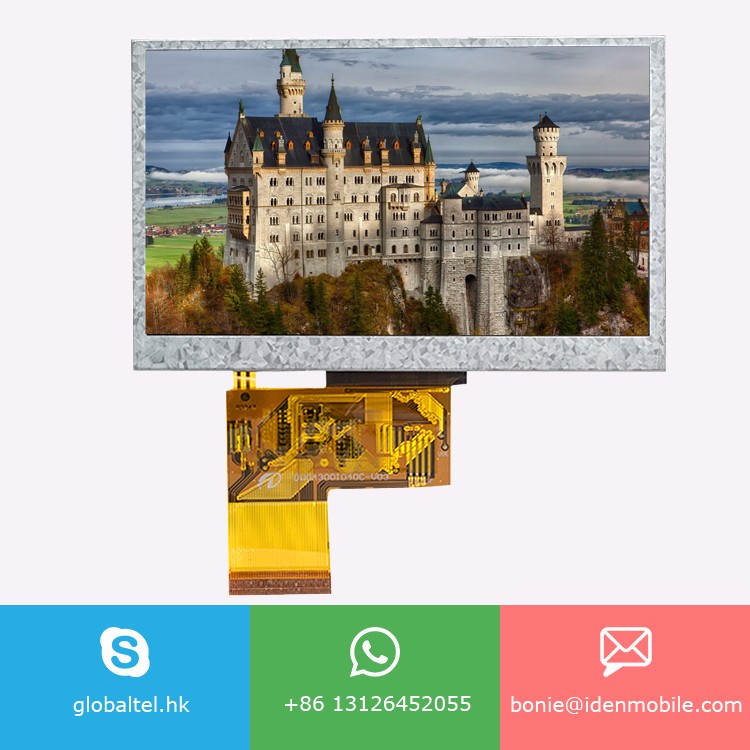 OEM ODM 4.3 inch TFT lcd display module With Resistive touch panel