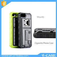 Customized silicone bottle opener cigarette lighter smartphone case with USB charger for iPhone 5 6