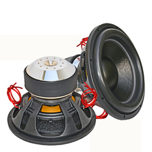 12inch spl pro audio subwoofer for car with aluminum basket and 10GA copper wire leads competition car woofer